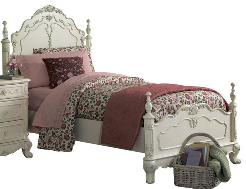 Homelegance Cinderella Queen Poster Bed in Antique White 1386NW-1* image