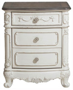 Homelegance Cinderella Night Stand in Antique White with Grey Rub-Through 1386NW-4 image
