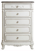 Homelegance Cinderella 5 Drawer Chest in Antique White with Grey Rub-Through 1386NW-9 image
