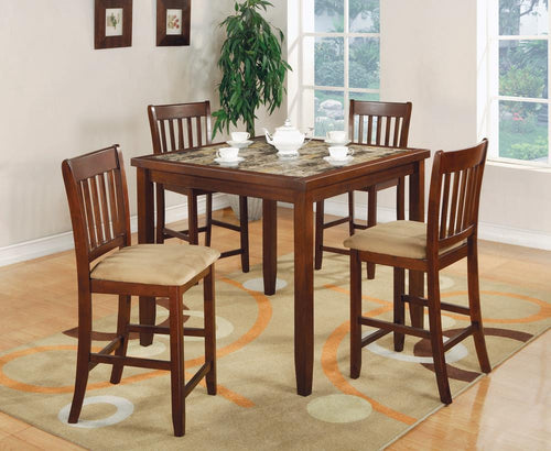 Five-Piece Casual Cherry Counter-Height Dining Set image