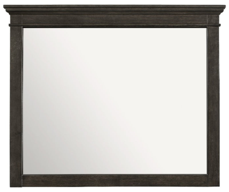 Homelegance Blaire Farm Mirror in Saddle Brown Wood 1675-6 image
