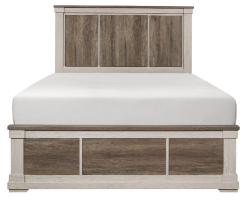 Homelegance Arcadia Queen Panel Bed in White & Weathered Gray 1677-1* image