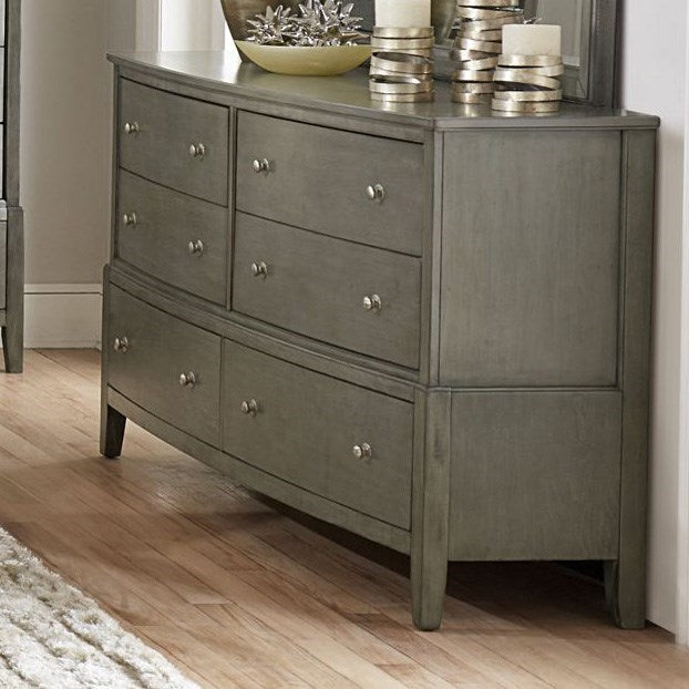 Homelegance Cotterill 6 Drawer Dresser in Gray 1730GY-5 image