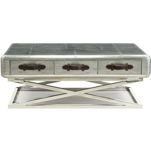 Acme Furniture Brancaster Coffee Table in Aluminum 83555 image