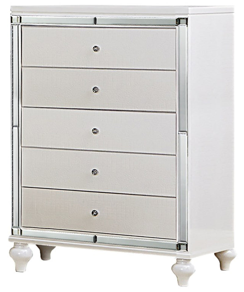 Homelegance Alonza 5 Drawer Chest in White 1845-9 image