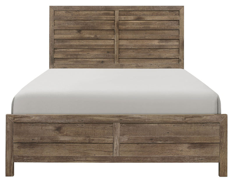 Homelegance Furniture Mandan Queen Panel Bed in Weathered Pine 1910-1* image