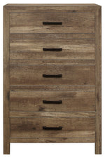 Homelegance Furniture Mandan 5 Drawer Chest in Weathered Pine 1910-9 image