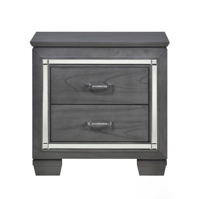 Homelegance Allura Nightstand in Gray 1916GY-4 image