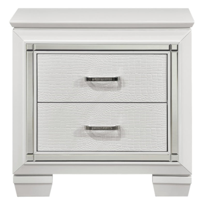 Homelegance Allura Nightstand in White 1916W-4 image