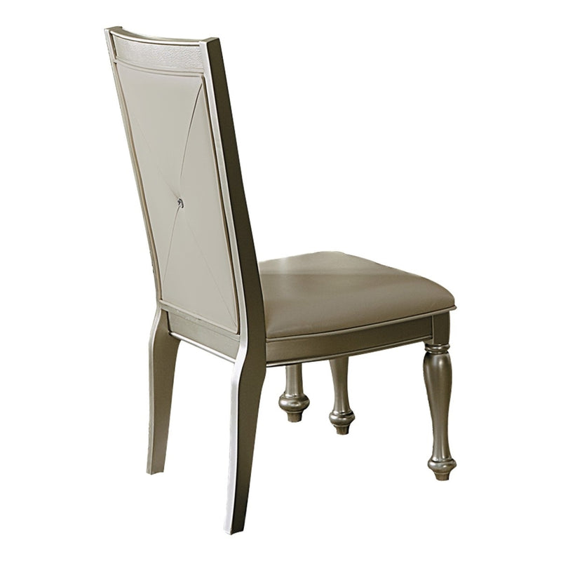 Homelegance Celandine Side Chair in Silver (Set of 2) image