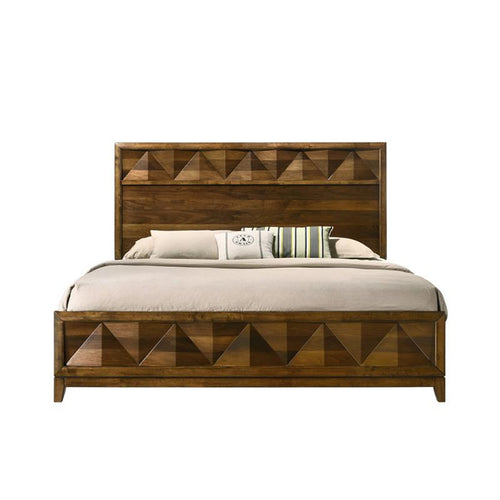 Acme Furniture Delilah Panel King Bed in Walnut 27637EK image