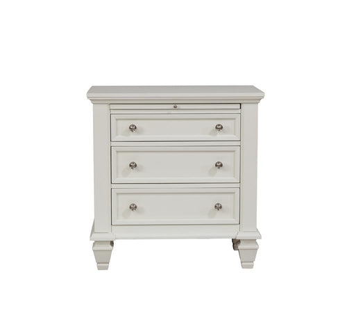 Sandy Beach Three-Drawer Nightstand With Tray image