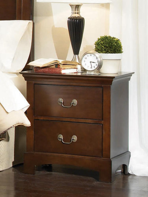 Tatiana Transitional Two-Drawer Nightstand image
