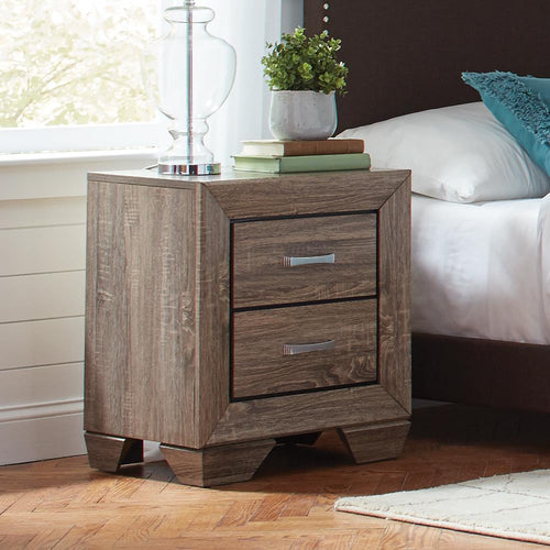 Kauffman Transitional Two-Drawer Nightstand image