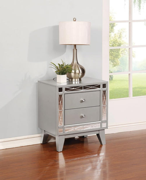 Leighton Contemporary Two-Drawer Nightstand image