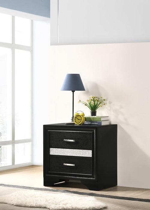 Miranda Transitional Black Nightstand image