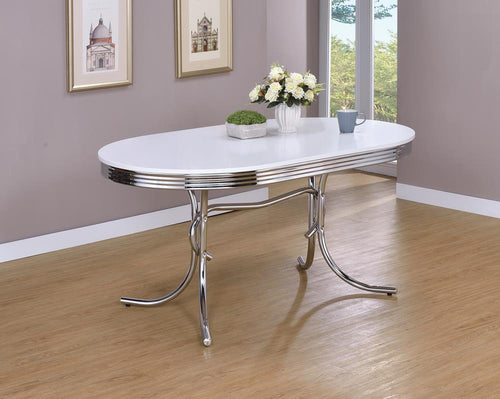 Retro Collection White Dining Table image