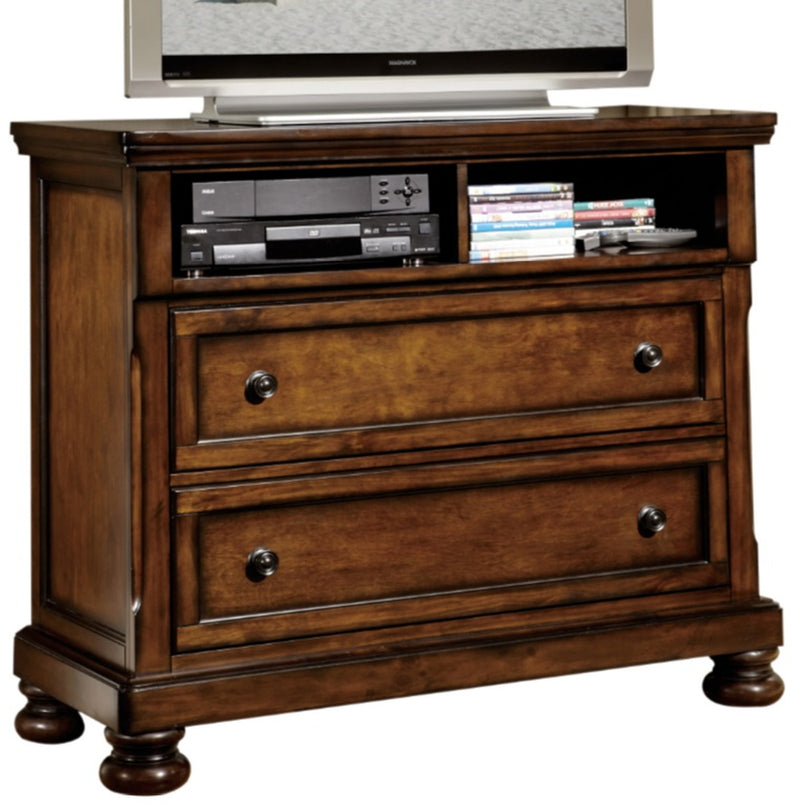 Homelegance Cumberland TV Chest in Brown Cherry 2159-11 image