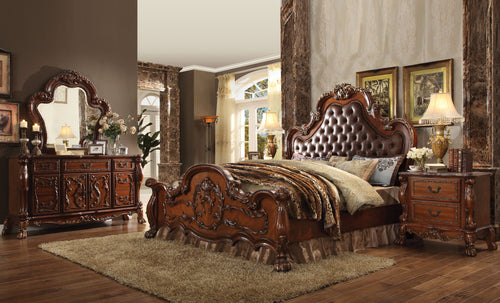 Dresden PU & Cherry Oak Eastern King Bed image