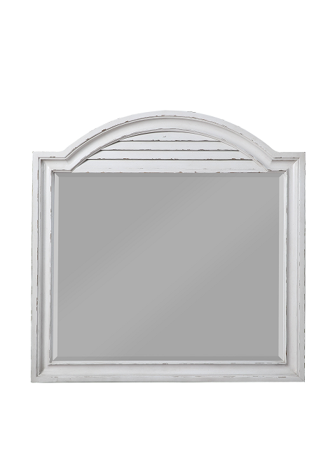 York Shire Antique White Mirror image