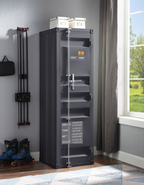 Cargo Gunmetal Wardrobe (Single Door) image