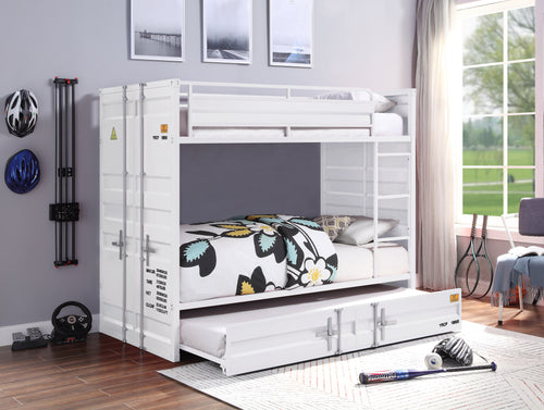 Cargo White Bunk Bed (Twin/Twin) image