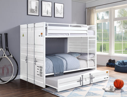 Cargo White Bunk Bed (Full/Full) image