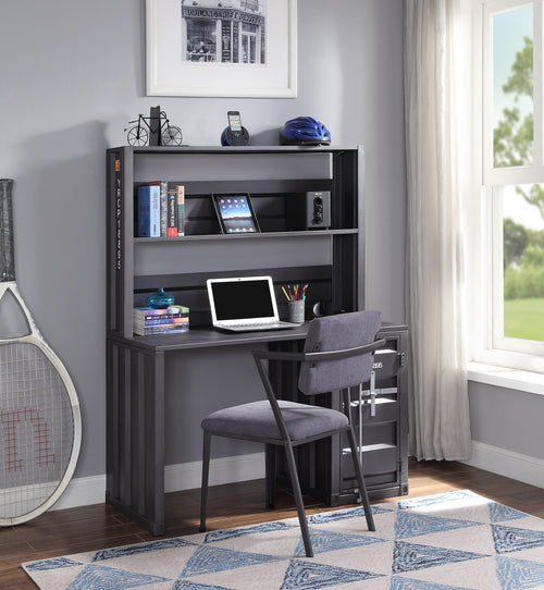 Cargo Gunmetal Desk & Hutch image