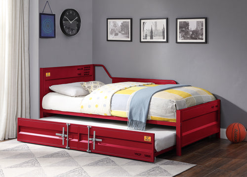 Cargo Red Daybed & Trundle (Twin Size) image