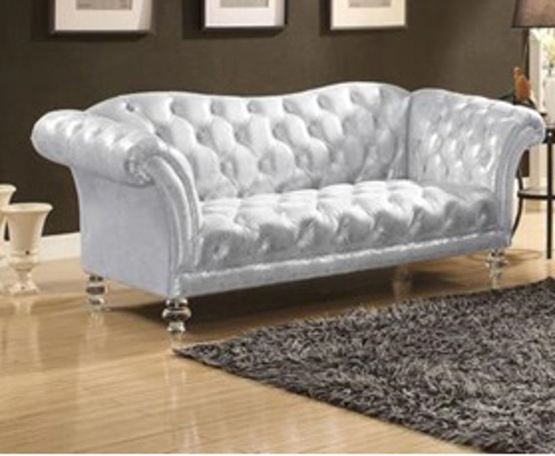 Acme Furniture Dixie Loveseat in Metallic Silver 52781 image