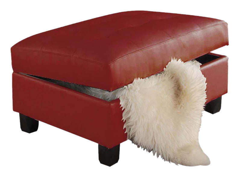 Acme Kiva Ottoman with Storage in Red 51187 image