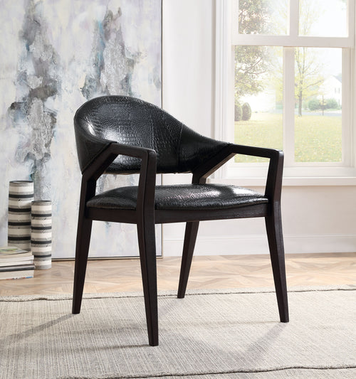 Aucilla Black Faux Crocodile PU Accent Chair image