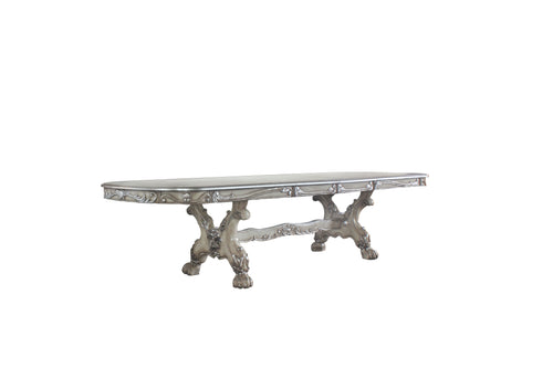 "Dresden Vintage Bone White Dining Table (108""L) image"