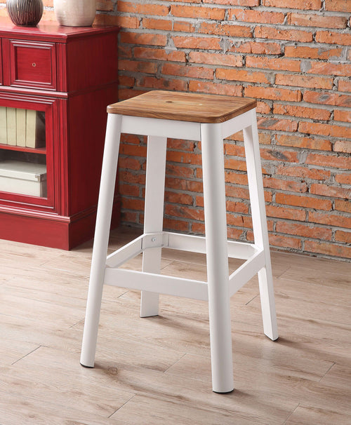 Jacotte Natural & White Bar Stool (1Pc) image