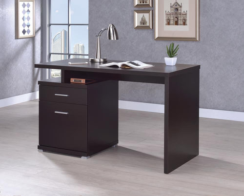 G800109 Office Desk with Drawer in Cappuccino image