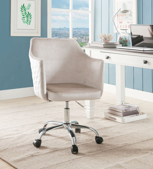 Cosgair Champagne Velvet & Chrome Office Chair image