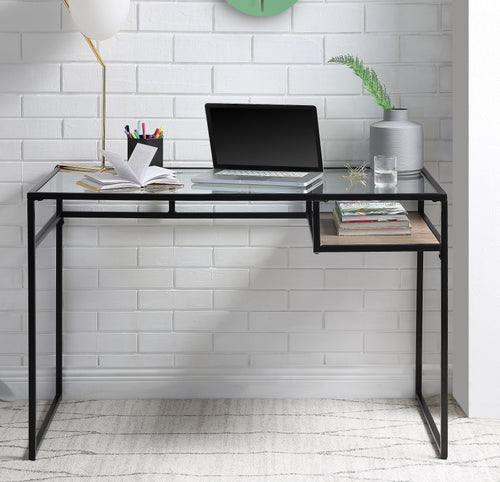 Yasin Black & Glass Desk image
