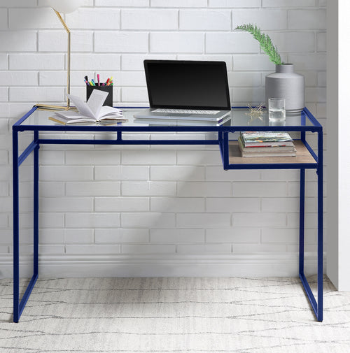 Yasin Blue & Glass Desk image