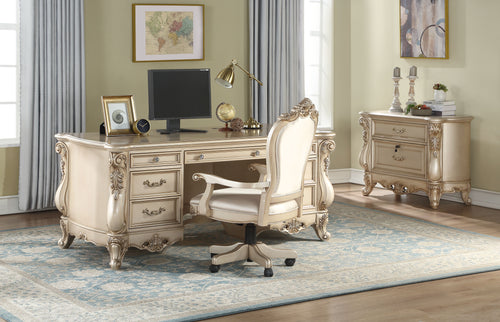 Gorsedd Antique White Executive Desk image