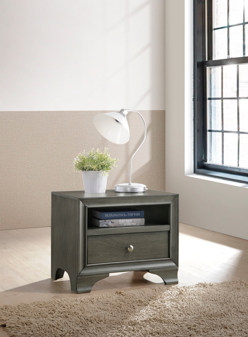 Blaise Gray Oak Accent Table image