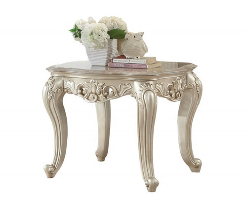 Acme Furniture Gorsedd End Table in Antique White 82442 image
