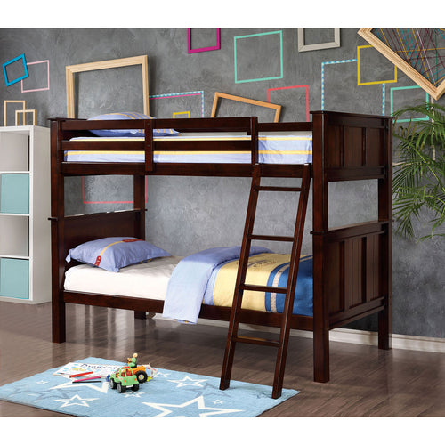 GRACIE Dark Walnut Twin/Twin Bunk Bed image