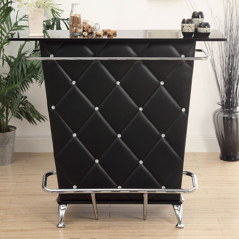 Fuero Black/Chrome Bar Table (K/D) image