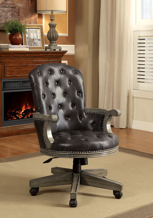 YELENA Gray/Black Height-Adjustable Arm Chair image