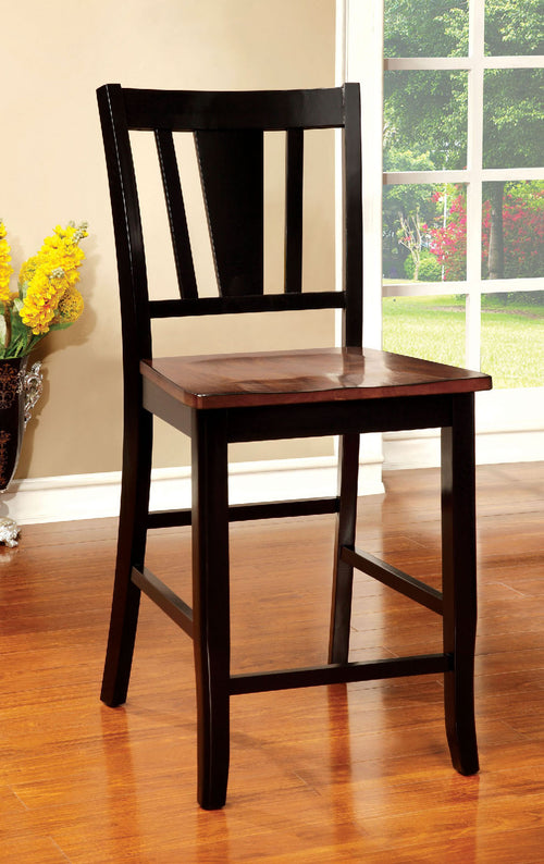 DOVER II Black/Cherry Counter Ht. Chair (2/CTN) image