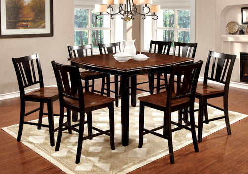 DOVER II Black/Cherry 7 Pc. Counter Ht. Dining Table Set image