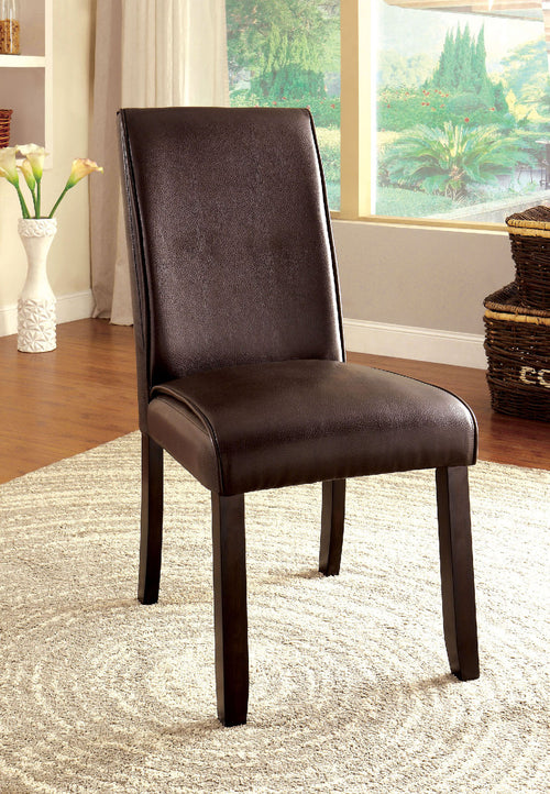 GLADSTONE I Dark Walnut Side Chair (2/CTN) image
