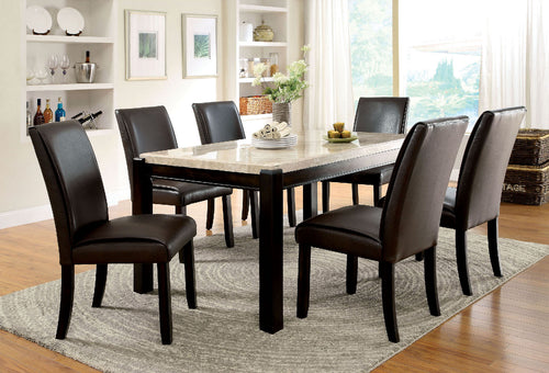 GLADSTONE I Black/Black 7 Pc. Dining Table Set image