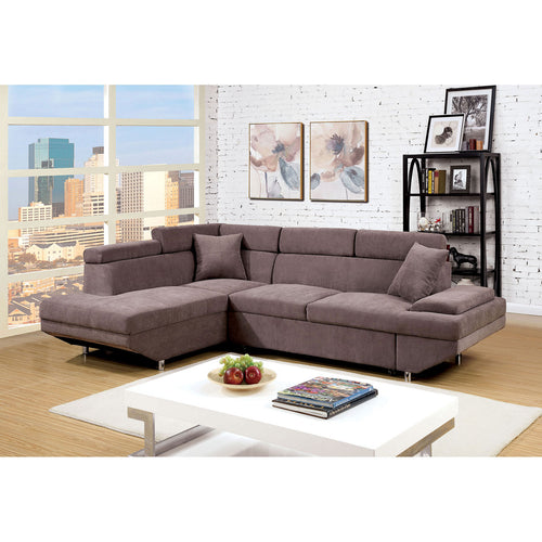 Foreman Brown Sectional, Brown image