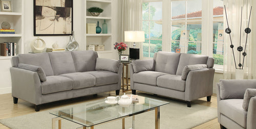 YSABEL Gray Sofa + Love Seat, Warm Gray image